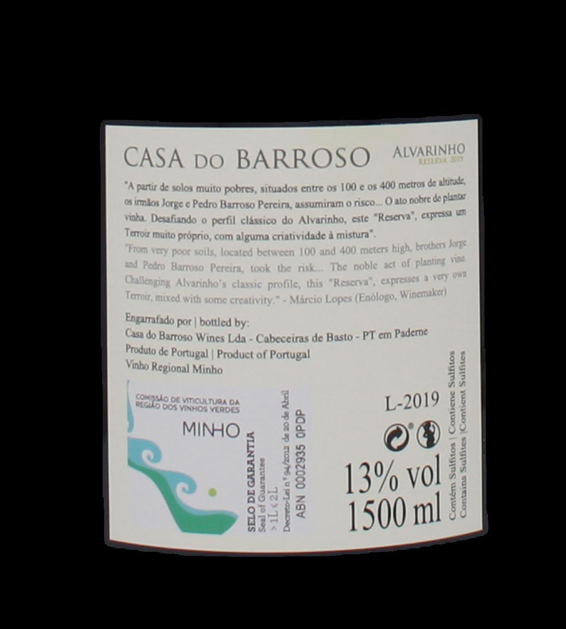 Picture of Casa do Barroso Alvarinho White 2019 MAGNUM